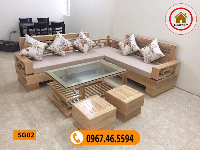 bộ bàn ghế đệm phòng khách SG02