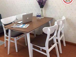 Bộ bàn ghế quán cafe ngồi làm việc CF01