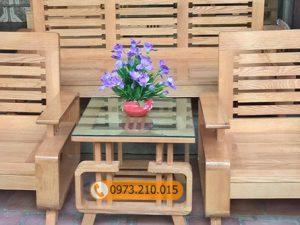 bộ bàn ghế chữ G gỗ sồi Nga GT01