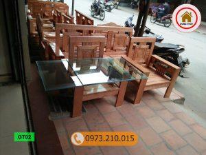 bộ ghế dấu cộng gỗ sồi Nga GT02