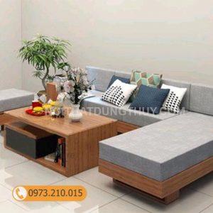 Bộ ghế sofa góc chữ L gỗ sồi Nga SG01
