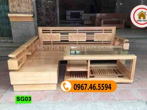 bàn ghế cho phòng khách bằng gỗ SG03