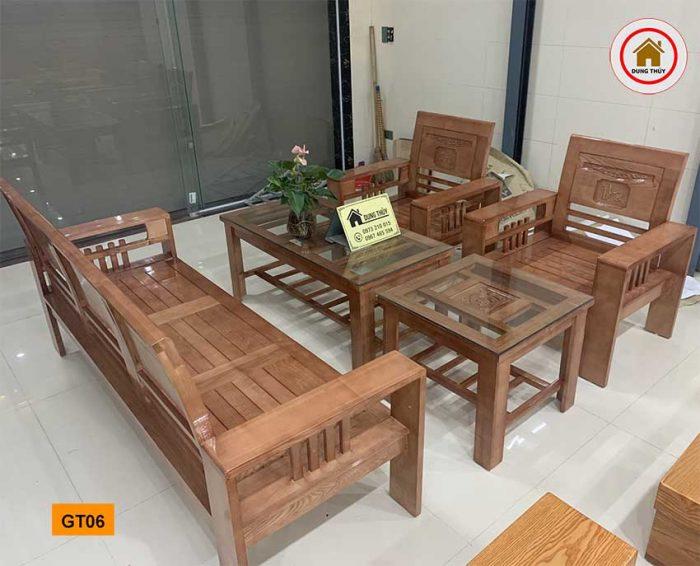 Bộ bàn ghế Phúc Lộc Thọ gỗ sồi Nga GT06