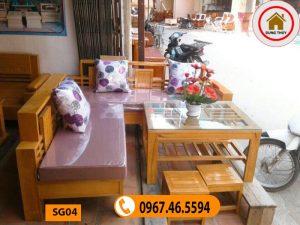 các mẫu bàn ghế gỗ phòng khách SG04