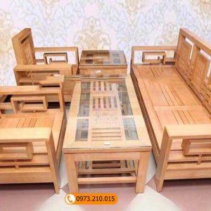 Bộ ghế tựa kép gỗ sồi Nga GT05