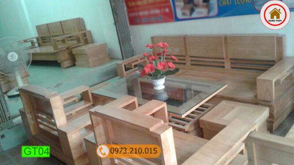 bộ bàn ghế Nhật lùn gỗ sồi Nga