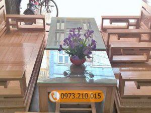 bộ ghế hoành phi gỗ sồi Nga GT03