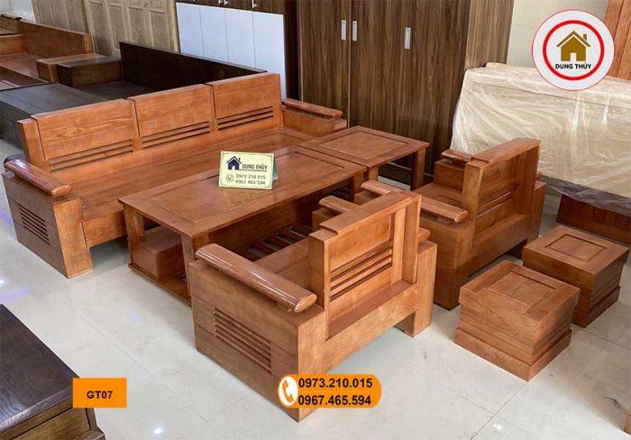 ghế đối tay trứng gỗ sồi GT07 đẹp