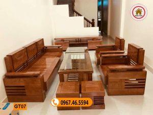 Bộ ghế tựa trứng bộ gỗ sồi Nga GT07