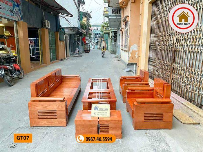 ghế đối tay trứng gỗ sồi Nga GT07 màu xoan đào