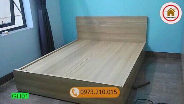 giường hộp gỗ sồi Nga GH01