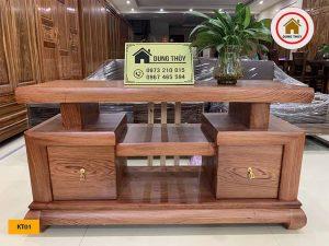 Kệ tivi gỗ hương đá KT01