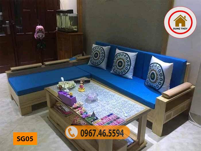 sofa góc trứng cho phòng khách nhỏ SG05