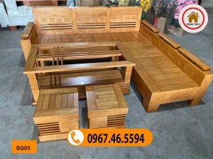 sofa góc trứng gỗ sồi Nga giá rẻ SG05