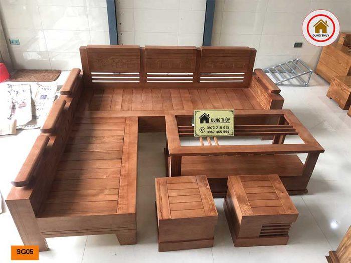 sofa góc trứng gỗ sồi Nga SG05