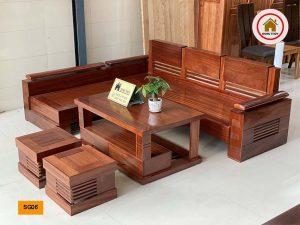 sofa góc trứng gỗ xoan đào SG06