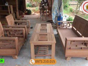 bộ ghế gỗ tựa cong xoan đào GT08