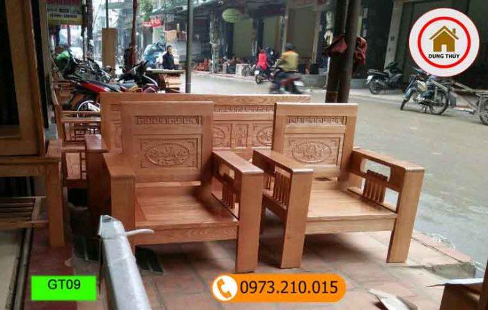 bộ ghế đối tựa gỗ sồi Nga GT09