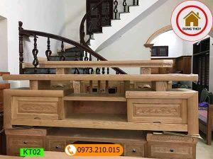 kệ tivi phòng khách gỗ sồi Nga KT02