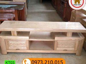kệ tivi phòng khách 2 ngăn gỗ sồi Nga KT03