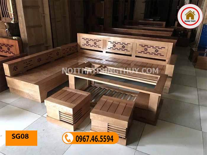 mẫu bàn ghế sofa đẹp cho phòng khách SG08