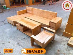 mẫu ghế sofa bằng gỗ tự nhiên đẹp SG10