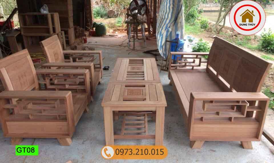 Sang chảnh cùng 2 mẫu bàn ghế gỗ phòng khách cao cấp