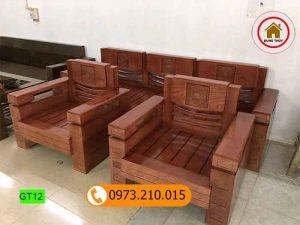 bộ ghế gỗ tựa vuông gỗ sồi nga gt12