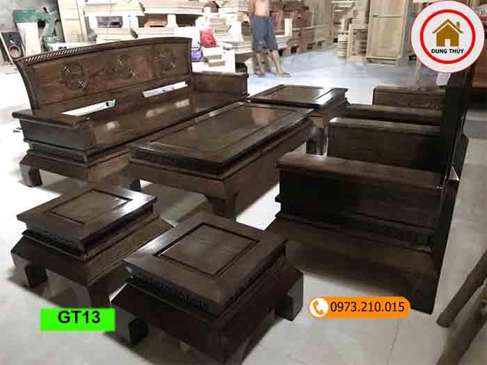 bộ ghế dải quạt gỗ sồi Nga GT13