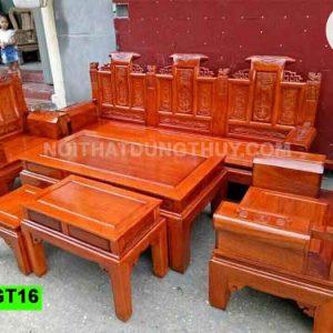Bộ bàn ghế cuốn thư giả cổ gỗ sồi Nga GT16