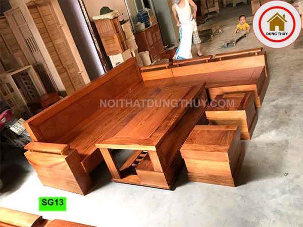 bộ ghế sofa gỗ hương xám SG13
