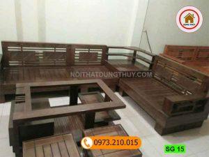 bộ ghế sofa góc 3 tầng gỗ sồi Nga SG15