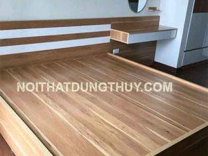 Giường ngủ gỗ công nghiệp phun sơn trắng GN04