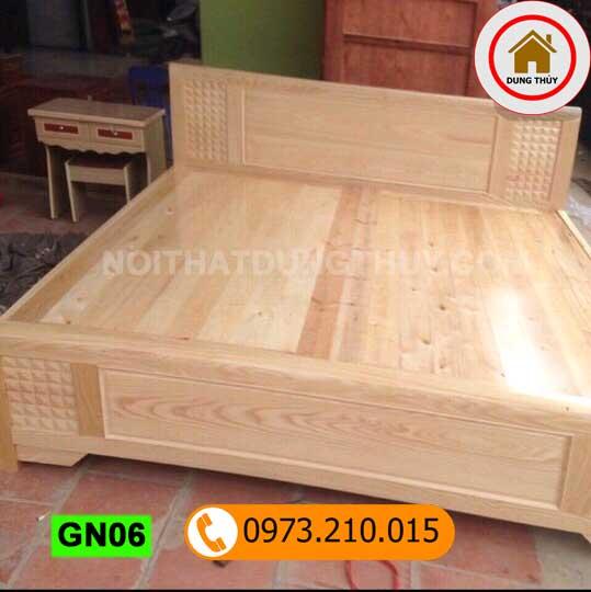 Giường ngủ gỗ sồi Nga GN06