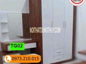 Tủ gỗ công nghiệp để quần áo TG02