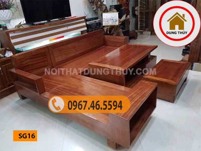 mẫu ghế sofa gỗ đẹp nhất hiện nay SG16