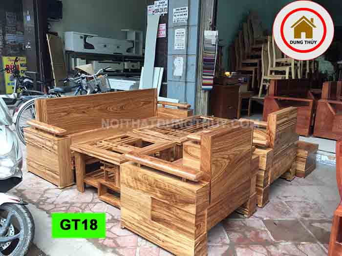 Bộ ghế đối tay trứng gỗ hương xám GT18