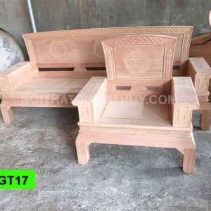 Bộ ghế dải quạt gỗ đinh hương GT17