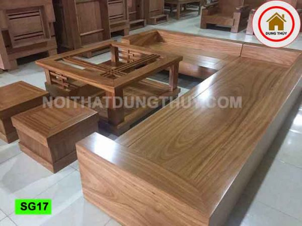 Bộ ghế sofa tựa bằng gỗ sồi Nga SG17