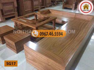 Bộ ghế sofa tựa bằng nguyên khối gỗ sồi Nga SG17