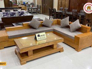 Bộ ghế sofa giả nguyên khối gỗ sồi Nga SG17