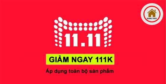 Ưu đãi ngày vàng 11/11: Giảm ngay 111K cho toàn bộ sản phẩm