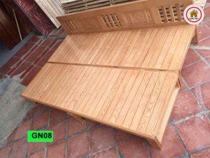 giường gấp thành ghế sofa gỗ sồi Nga GN08
