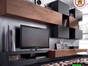 Kệ tivi phòng khách hiện đại gỗ sồi Nga KT04