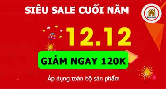 Khuyến mại Ngày vàng 12/12: Giảm thêm 120K toàn bộ sản phẩm