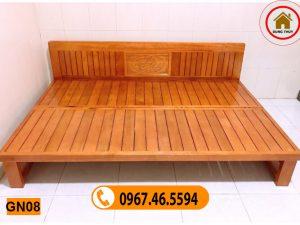 sofa gấp thành giường GN08 gỗ sồi Nga