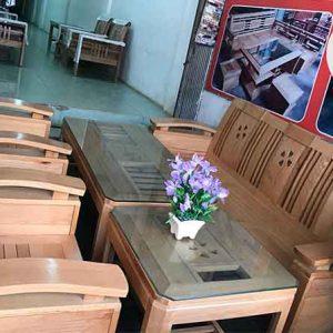 Bộ ghế đối tựa hoa thủng gỗ sồi Nga GT19