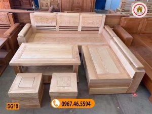 sofa góc trứng mặt liền gỗ sồi Nga SG19