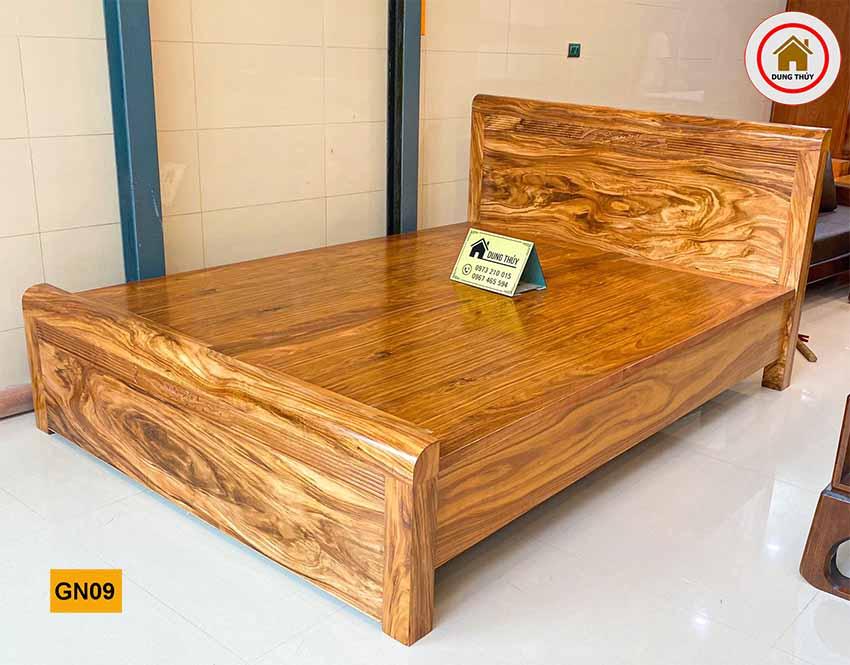 Giường hộp gỗ hương xám GN09