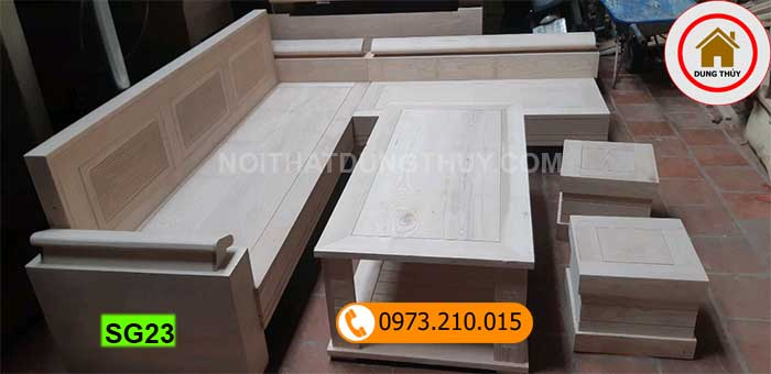 Mua bàn ghế sofa gỗ giá tận gốc ở đâu ở Hà Nội?
